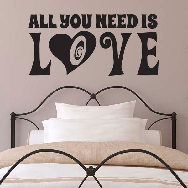 all you need is love wall sticker engagement wedding