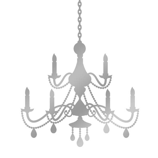 chandelier wall sticker vintage french baroque style for