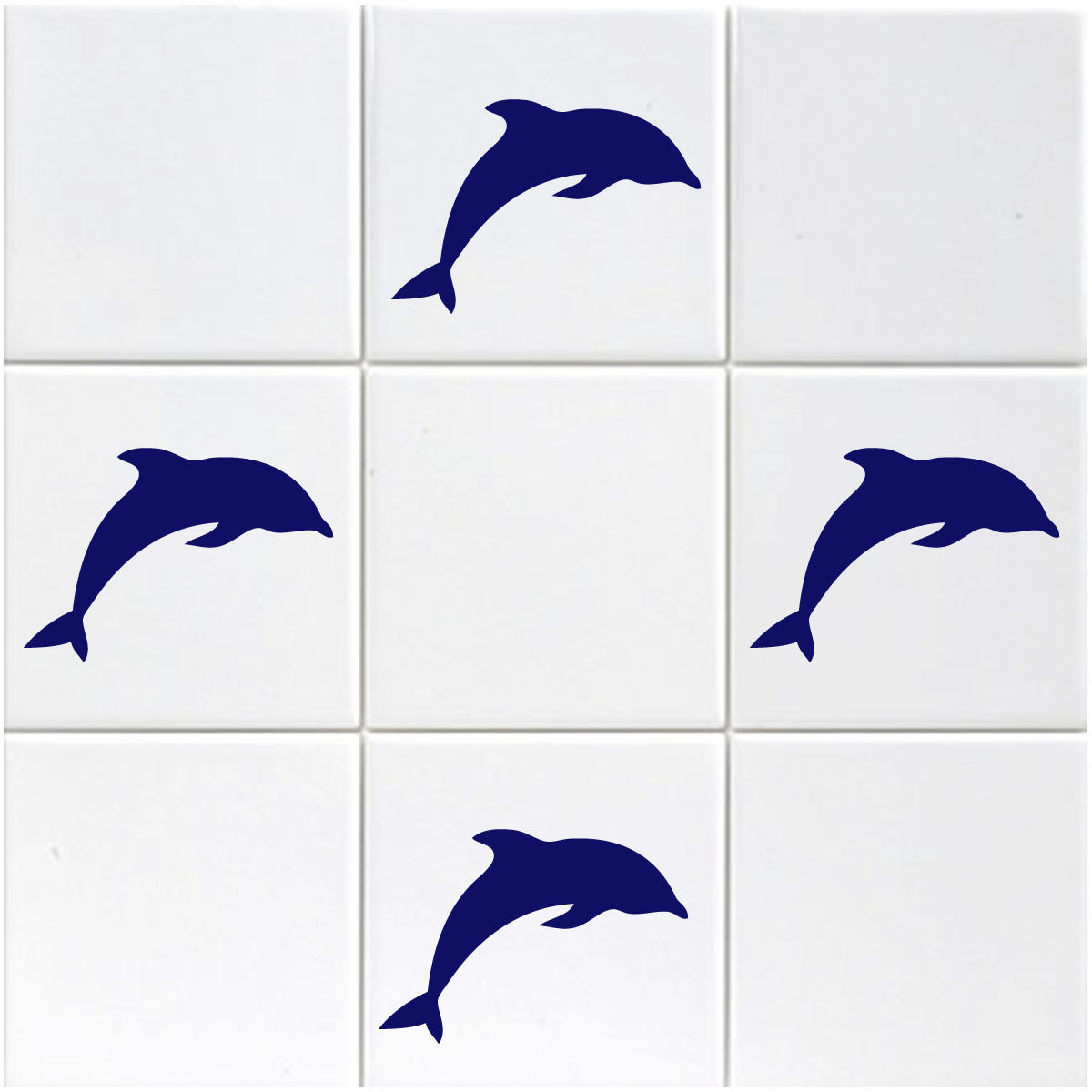 Dolphin Bathroom Tiles: Pack Of 18 Dolphins Tile Stickers
