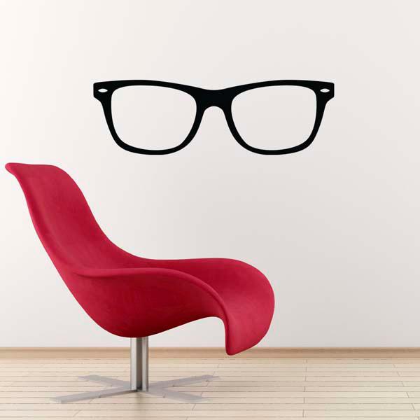 Geek Glasses Wall Sticker / Nerd Decal