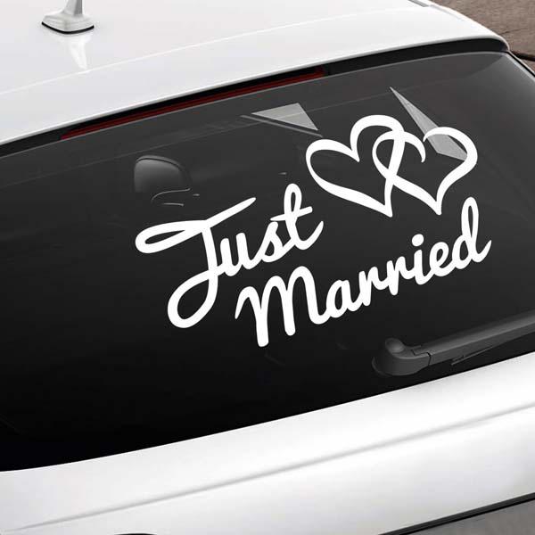 Just Married Car Sign Wedding Car Window Sticker Ebay