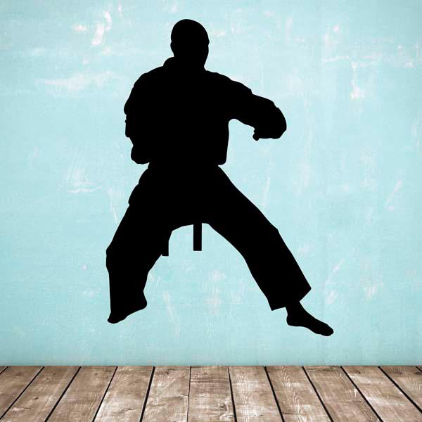 standing silhouette figure karate taekwondo marial