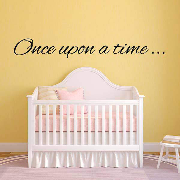 once upon a time wall sticker nursery decal ebay rainbow sun star cloud wall stickers kids children nursery