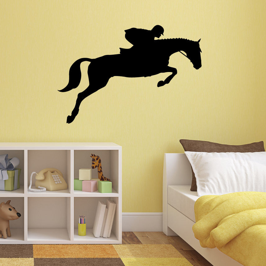 show jumping horse wall sticker equestrian sports