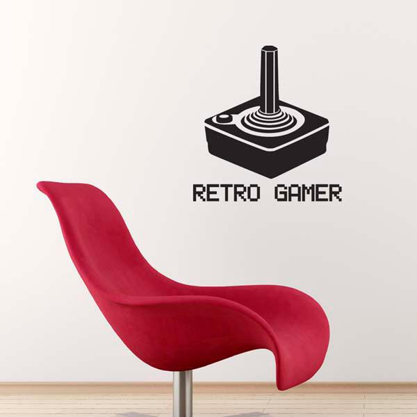 retro gamer wall sticker retro console controller decal