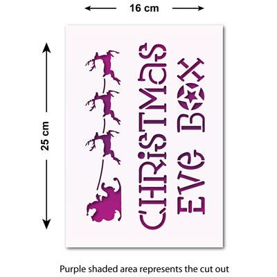 Craftstar Christmas Eve Box Stencil Reusable Mylar Xmas Craft