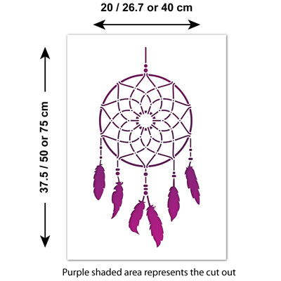 craftstar dream catcher wall stencil large traditional