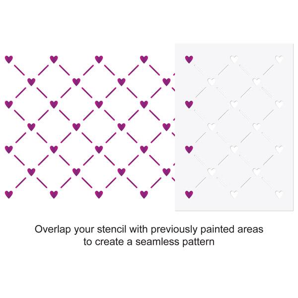 CraftStar Mini Heart Lattice Pattern Stencil Use Guide