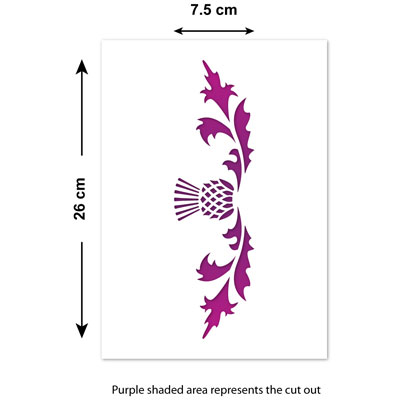 Scottish Thistle Template by CraftStar Thistle Border Stencil 26 x 7.5 cm