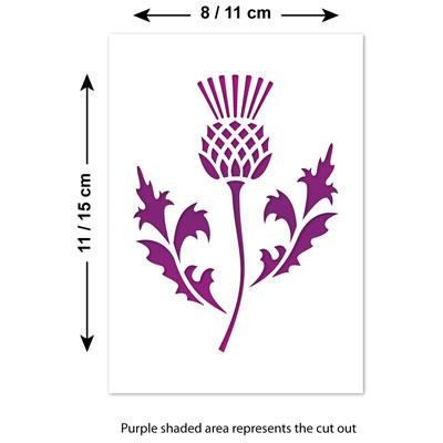 Details about CraftStar Scottish Thistle Stencil - National Emblem of  Scotland (A5 & A6 Sizes)