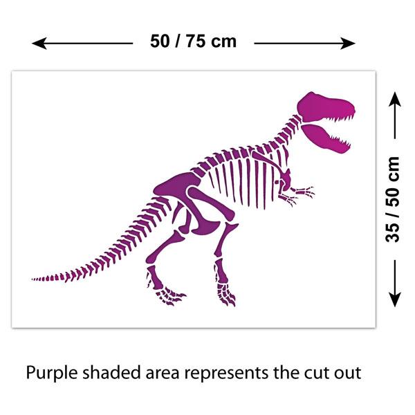 craftstar tyrannosaurus rex t rex dinosaur skeleton stencil