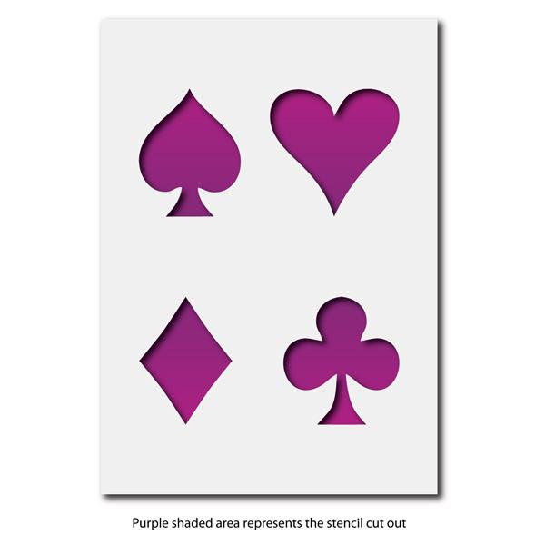 Craftstar Large Playing Card Symbol Stencil Heart Diamond Spade