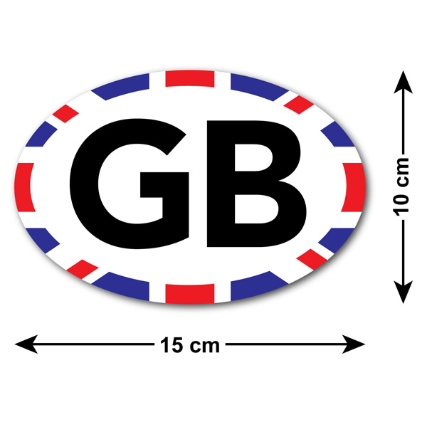 Gb Car Sticker With Union Jack Edge For Uk British