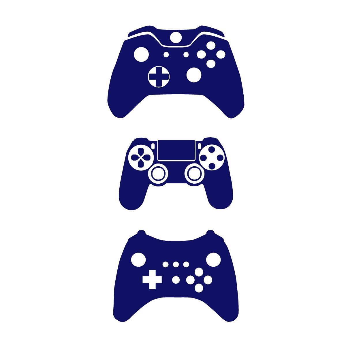 Gamer Home Decor Gamer Wall Stickers Pack Of 3 Games Console Controller