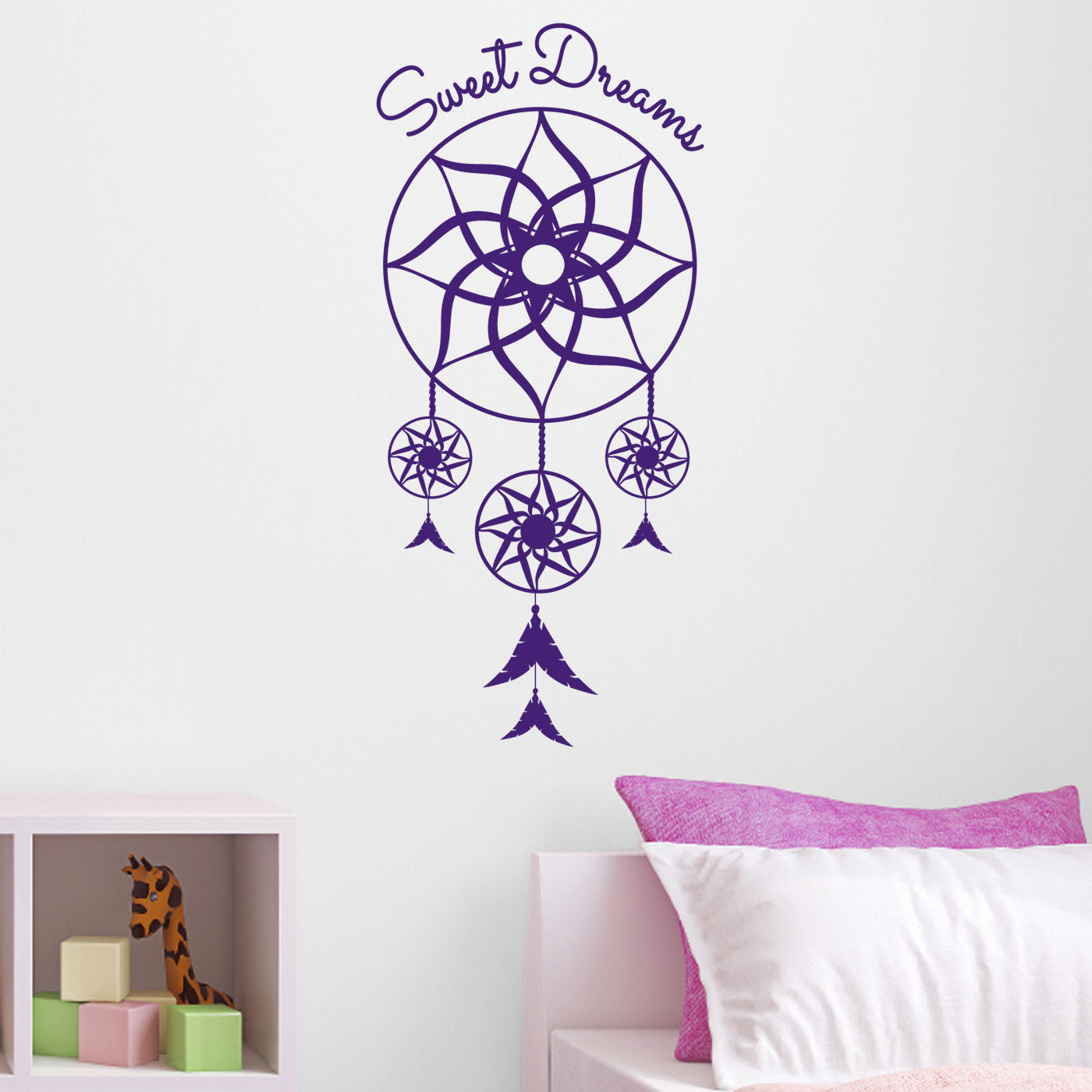 Sweet Dreams Dream Catcher Wall Sticker Dreamcatcher Bedroom Wall
