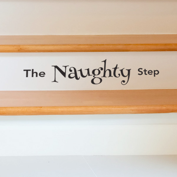 The Naughty Step Sticker