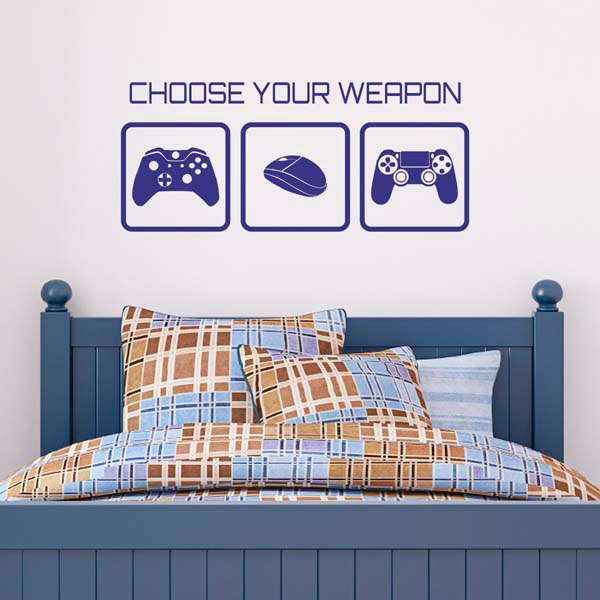 CChoose Your Weapon Wall Sticker. Our Video Game ...