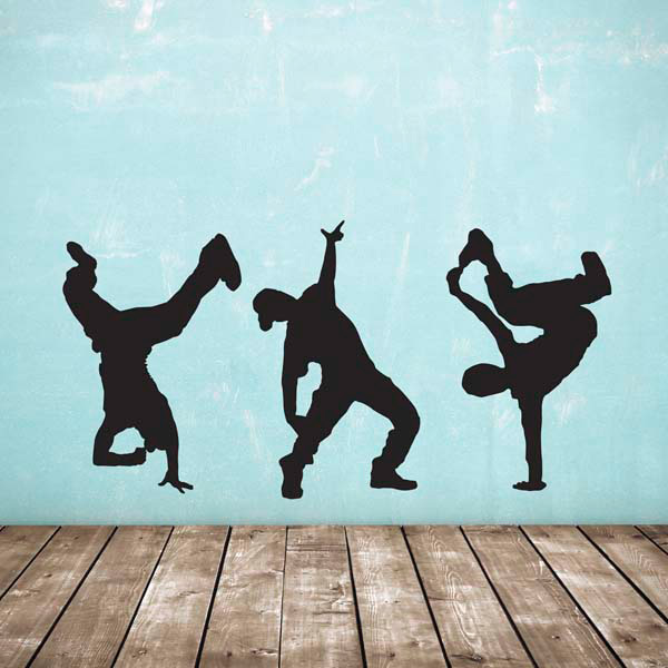Strret Dancers Wall Sticker